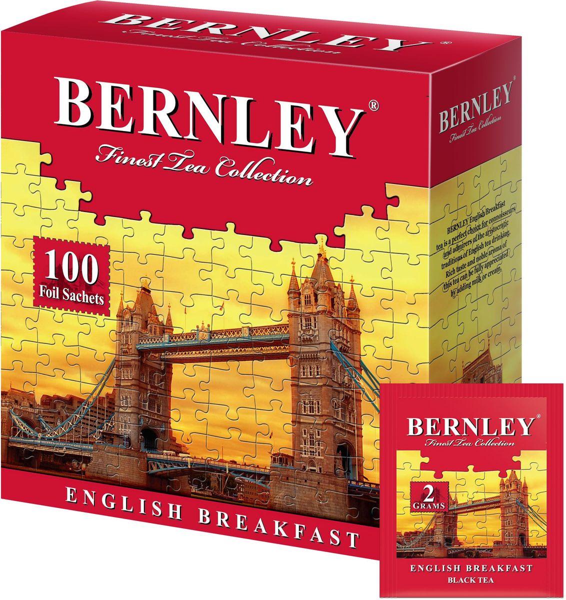 Bernley English Breakfast чай черный байховый мелкий в пакетиках, 100 шт