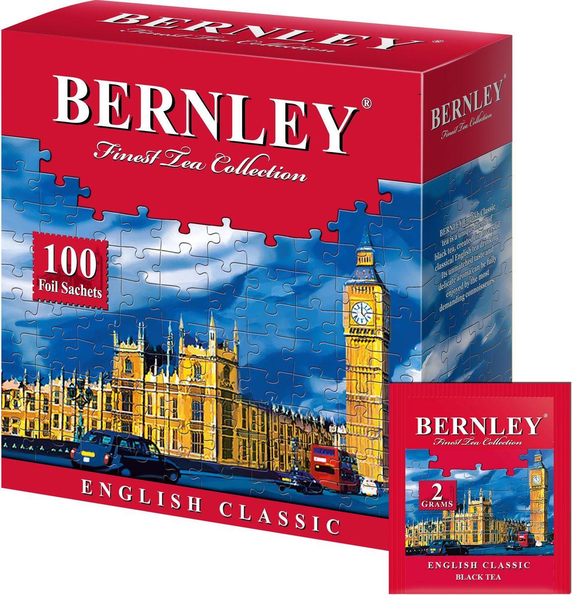Bernley English Classic чай черный байховый мелкий в пакетиках, 100 шт1070129Чай Bernley English Classic в конвертах имеет терпкий вкус, отлично сбалансированный, с восхитительно утонченными оригинальными оттенками. Быстро восстанавливает силы, повышает жизненный тонус. Подходит для чаепития в любое время суток.