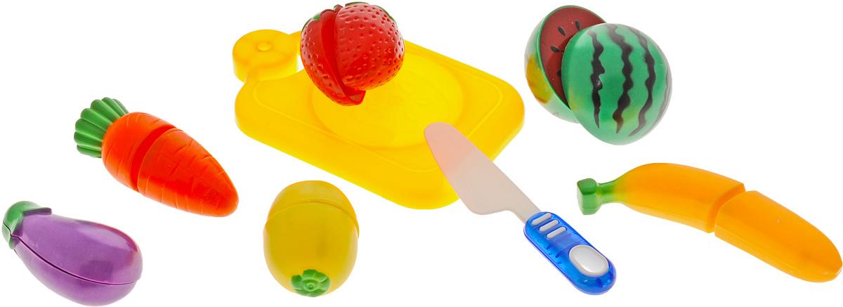 ABtoys Игрушечный набор продуктов цвет доски желтый 8 предметов abtoys игрушечный музыкальный руль цвет черный желтый красный