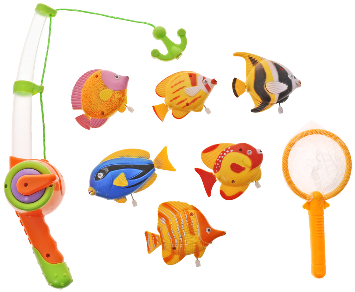 Играем вместе Игрушка для ванной Рыбалка Маша и Медведь цвет удочки оранжевый салатовый игрушки для ванной играем вместе набор для купания маша и медведь