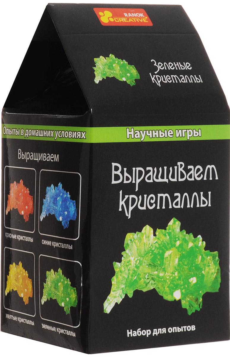 Ranok Набор для опытов Выращиваем кристаллы цвет зеленый