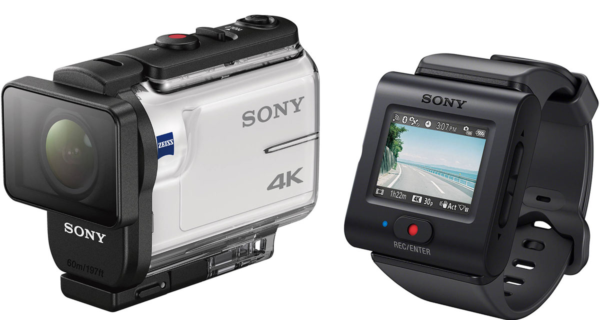 Sony FDR-X3000R 4K, White экшн-камера аксессуар sony aka dm1 dog mount for action cam