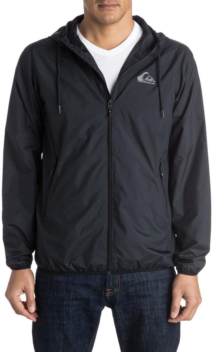 Куртка мужская Quiksilver, цвет: черный. EQYJK03238-KVJ0. Размер XXL (56) футболка мужская quiksilver цвет белый eqyzt04285 wbb0 размер xxl 56