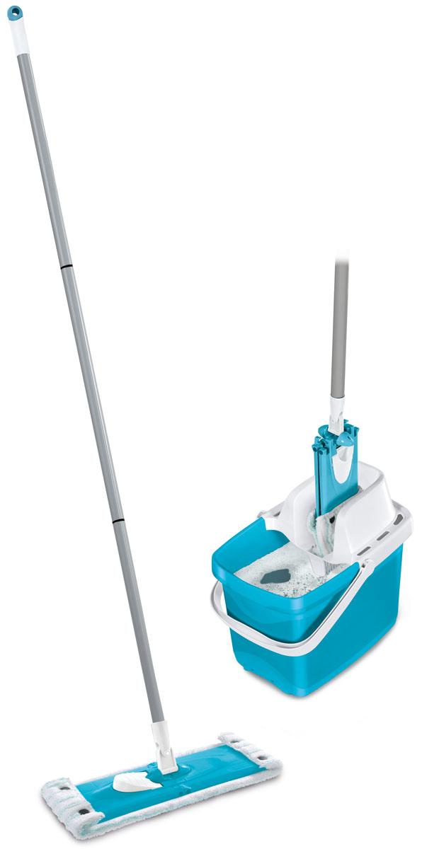 Комплект для уборки Leifheit Combi Clean, цвет: голубой, 3 предмета52063Комплект Leifheit Combi Clean состоит из ведра с сеткой для отжима, швабры Twist с возможностью вращения и насадки-тряпки Micro Duo. Такой комплект станет отличным вариантом для быстрой и качественной уборки. Особая структура поверхности насадки с разноуровневыми волокнами обеспечивает глубокую очистку гладких поверхностей и всех встречающихся неровностей: впадин, зазоров, микротрещин. При этом специфическое расположение насадки на платформе позволяет одновременно удалять загрязнения из углов и с плинтусов.Шарнирное соединение платформы и рукоятки предоставляет возможность выбора наиболее удобного наклона ручки в ходе уборки, что требуется при мытье труднодоступных мест. Простое и удобное использование отжимного устройства избавляет от необходимости постоянно нагибаться и позволяет сохранить руки сухими и чистыми.Длина платформы: 33 см