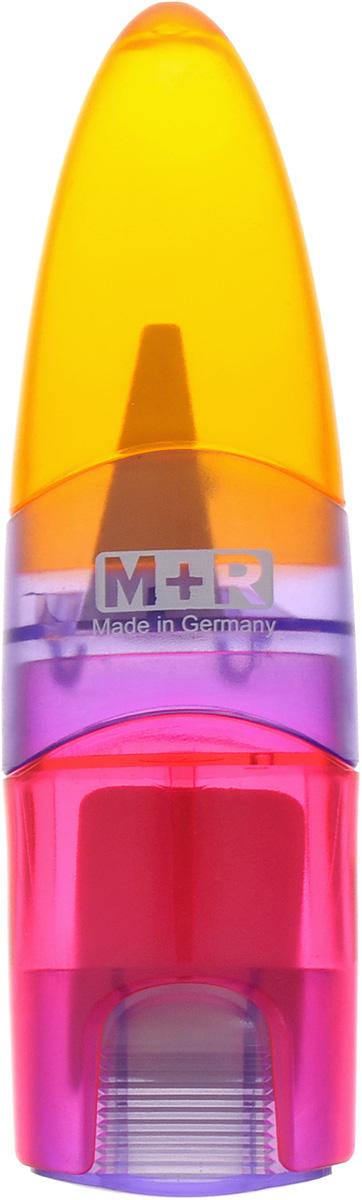 M+R Точилка Ellipstick Swing с ластиком цвет оранжевый сиреневый розовый0945-0002_оранжевый, сиреневый, розовыйУдобная точилка в пластиковом корпусе с крышкой M+R Ellipstick Swing предназначена для затачивания карандашей.Острое лезвие точилки обеспечивает высококачественную и точную заточку карандашей. Карандаш затачивается легко и аккуратно, а опилки после заточки остаются в специальном контейнере.Точилка снабжена ластиком, закрывающимся колпачком.