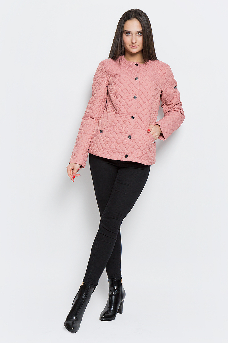 Куртка женская Finn Flare, цвет: светло-розовый. B17-11004_318. Размер M (46) finn flare куртка для девочки