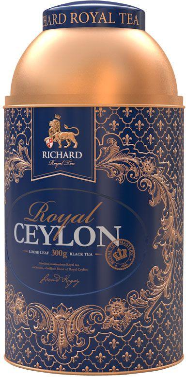 Richard Royal Size черный крупнолистовой чай, 300 г100196Высококачественный крупнлистовой цейлонский чай. Дорогой представительный подарок.