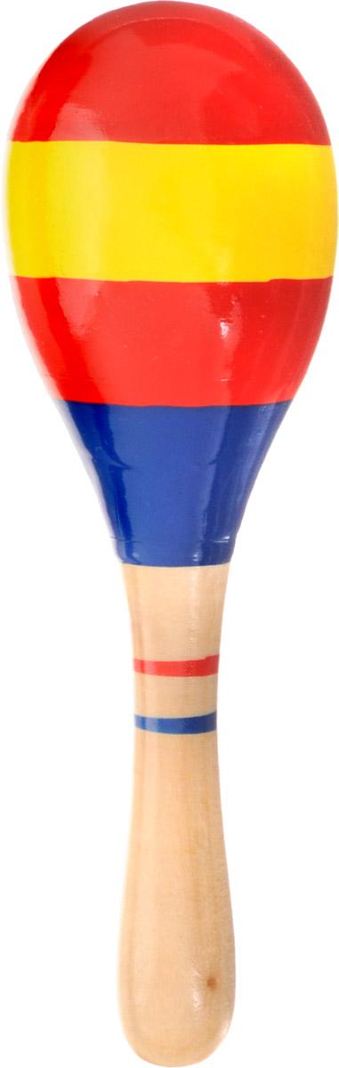 Мир деревянных игрушек Маракас Полоски цвет красный желтый синий мир деревянных игрушек конструктор каталка полиция
