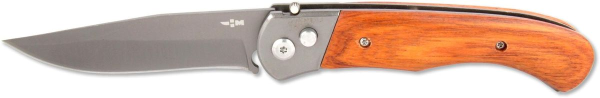 Нож складной автоматический Ножемир Четкий расклад, нержавеющая сталь, общая длина 20,5 см. A-125A-125Складной автоматический нож Ножемир Четкий расклад пригодится в походе, на пикнике или дома. Лезвие с покрытием антиблик выполнено из нержавеющей стали 40Х13, рукоятка - из прочного стабилизированного дерева. Лезвие открывается автоматически при нажатии на кнопку. Фиксатор не дает ножу закрыться. В сложенном виде нож занимает минимум места и с легкостью помещается даже в карман. Клипса позволяет носить нож на ремне.Общая длина ножа: 20,5 см.