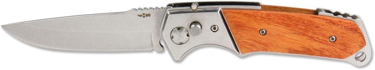 Нож автоматический складной Ножемир Четкий расклад, общая длина 20,3 см. A-131A-131Длина клинка, мм: 88Толщина клинка, мм: 2,4Общая длина, мм: 203Материал рукояти: стабилизированное деревоСталь: 40Х13Твёрдость стали, HRC: 55 - 56Особенность: зеркальная полировка