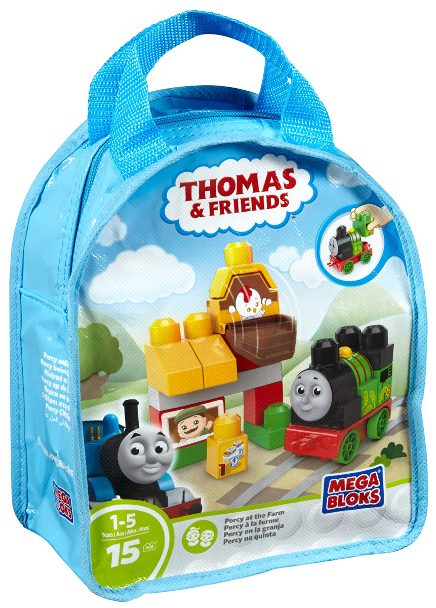 Mega Bloks Thomas & Friends Конструктор Перси на ферме крючок двойной tatkraft mega lock на вакуумном шурупе