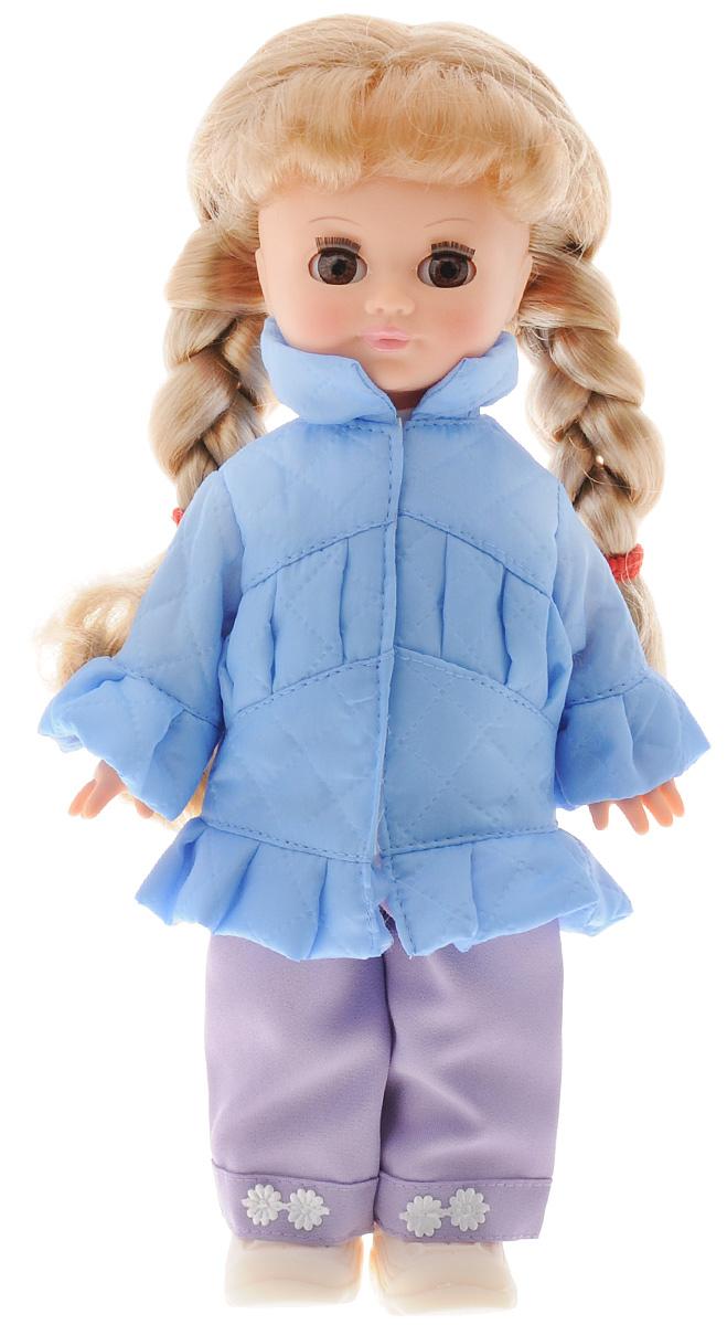 Весна Кукла озвученная Олеся цвет одежды голубой фиолетовый