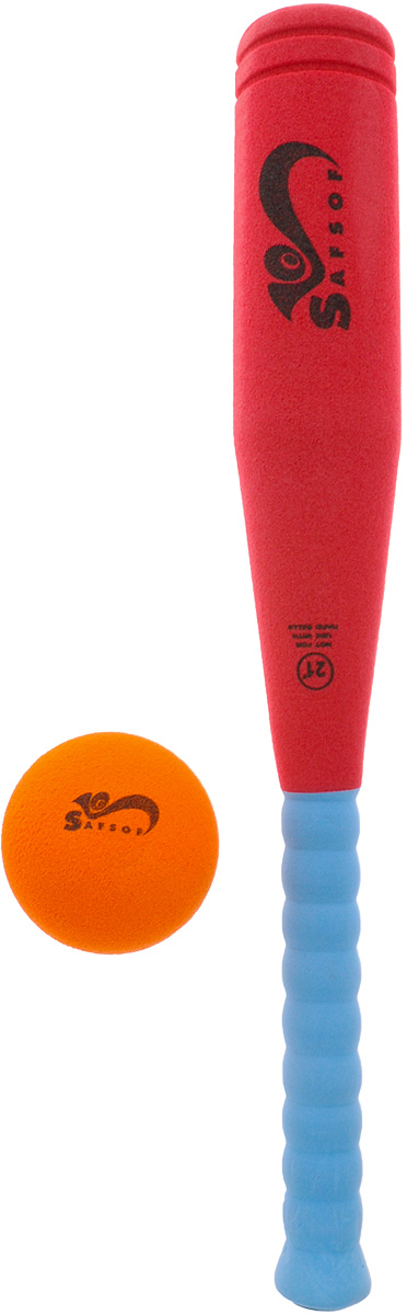 Zakazat.ru Safsof Игровой набор Бейсбольная бита и мяч цвет красный голубой оранжевый