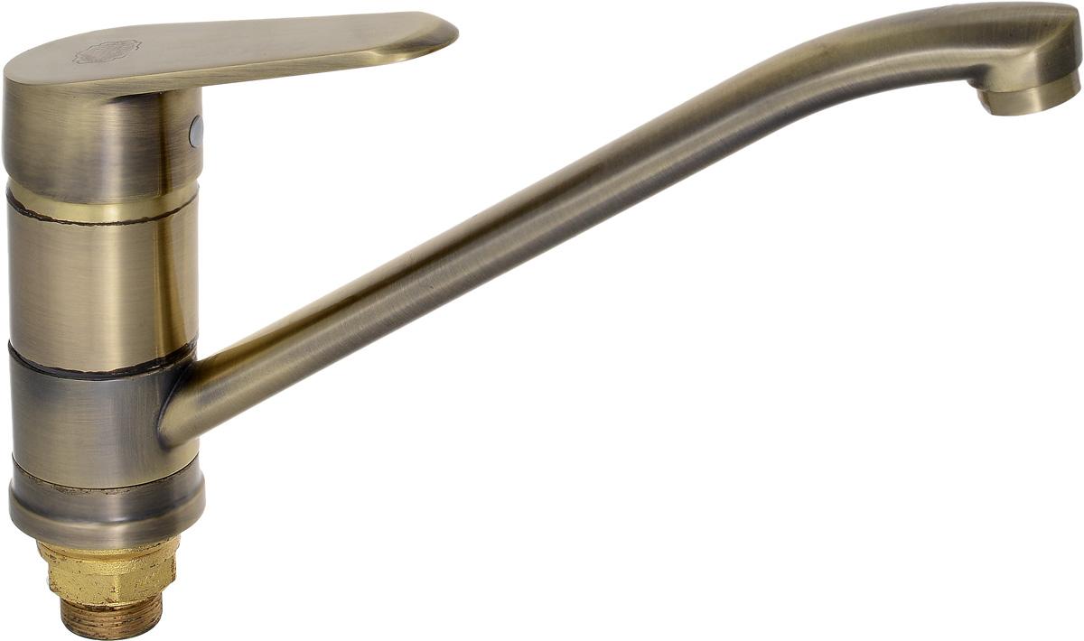 Смеситель для кухни РМС, с длинным поворотным изливом, цвет: бронзовый. SL48BR-004FBS-25SL48BR-004FBS-25Смеситель для кухни РМС с длинным поворотным изливом предназначен для смешивания холодной и горячей воды, устанавливается на мойку. Выполнен из высококачественной латуни марки MS63 (63% медь, 36% цинк, свинец, железо, сурьма, висмут, 1% фосфор) с хромированным покрытием. Латунь марки MS63 обладает повышенной прочностью, коррозионной стойкостью, твердостью и устойчивостью к щелочам и разбавленным кислотам. Смеситель оснащен длинным поворотным изливом и керамическим картриджем. Смеситель находится в закрытом состоянии, если ручка опущена до отказа. Поднятием ручки регулируется напор воды, а поворотом ручки достигается регулирование степени температуры воды: влево - горячей, вправо - холодной. Преимущество одноручкового смесителя заключается в том, что установленная вами температура воды сохраняется, если ручка при закрытии и следующем открытии не поменяла свое положение. Благодаря большой твердости и износоустойчивости керамических пластинок одноручковые смесители дольше служат, чем традиционные. Крепление на гайку. Аэратор выполнен из пластика. В комплекте гибкая подводка. Максимальное давление: 10 бар.Испытательное давление: 16 бар.Рекомендуемое давление: 1-5 бар, при давлении выше 6 бар рекомендуется использовать регулятор давления.Максимально допустимая температура: +80°С.Рекомендуемая температура: +65°С.Размер присоединения к угловому вентилю для умывальника: гайка 1/2.Кран-букса керамическая: 1/2.Размер картриджа: 40 мм.