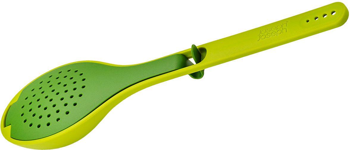 Ложка кулинарная Joseph Joseph Gusto, для варки трав и специй, цвет: зеленый20075Ложка кулинарная Joseph Joseph Gusto - практичная ложка для добавления аромата в ваши блюда. Приправы и специи больше не придётся вылавливать из готового супа или лимонада. Добавьте необходимое количество специй и трав в ложку, предварительно очистив их от стеблей с помощью специальных отверстий в ручке. Поместите ложку в ёмкость, чтобы вмешать аромат в блюдо. Также легко извлеките травы из готовой еды или напитков. Идеальна для супов, рагу и кувшинов с горячими или холодными напитками. Подходит для всех типов кухонной посуды. Можно мыть в посудомоечной машине.