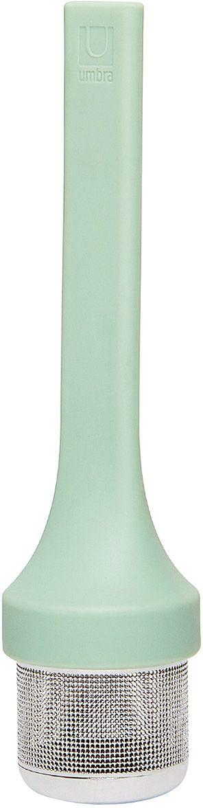 Емкость для заваривания Umbra Mytea, цвет: мятный480547-473Удобная емкость для заваривания чая. Ситечко изготовлено из нержавеющей стали, рукоятка — из гибкого силикона.Design: Eugenie De Loynes