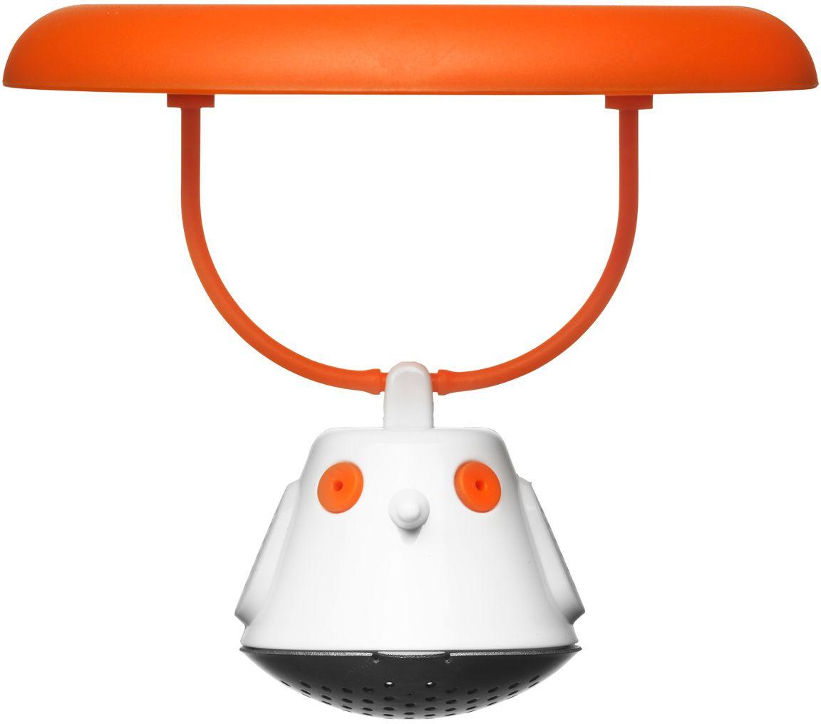 Емкость для заваривания чая QDO Birdie Swing, с крышкой, цвет: оранжевый567395Оригинальная емкость для заваривания чая в виде небольшой птички. Снабжена крышкой для кружки, с помощью которой можно быстро и безопасно приготовить любимый напиток.