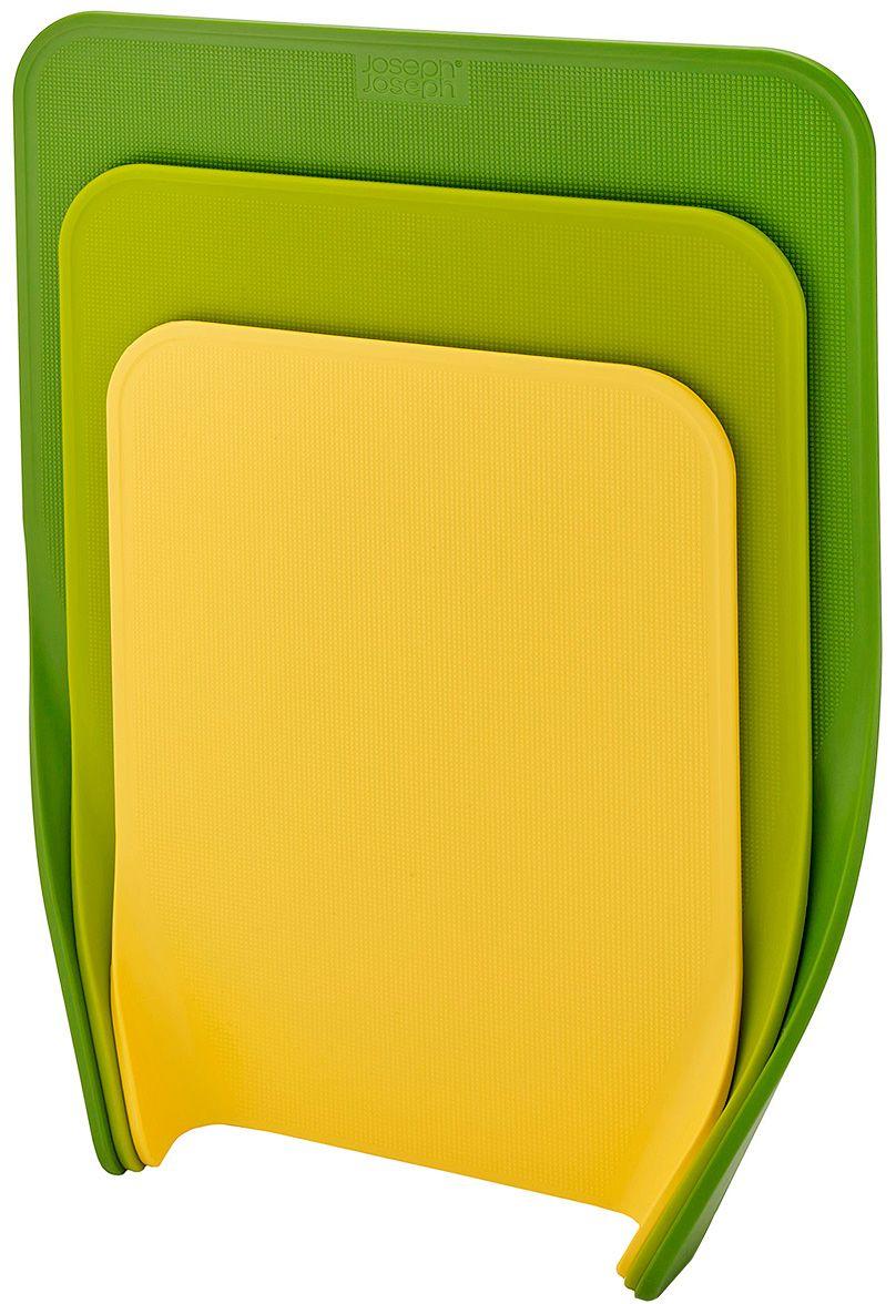 Комплект разделочных досок Joseph Joseph Nest, цвет: зеленый, 3 шт60121Комплект разделочных досок Joseph Joseph Nest- состоит из трех разделочных досок разных размеров. Можно использовать отдельно для продуктов разного типа: для мяса, рыбы, хлеба, овощей и фруктов. Текстурированная поверхность препятствует прилипанию кусочков пищи, а закругленные края помогут ссыпать продукты в емкость без потерь.