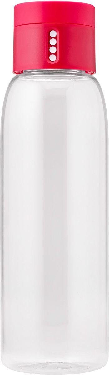 Бутылка для воды Joseph Joseph Dot, цвет: розовый, 600 мл81051Бутылка для воды Joseph Joseph Dot- уникальная бутылка, которая поможет вам контролировать ежедневное потребление воды. Инновационная крышка со счетчиком запомнит каждое наполнение бутылки в течение дня. Просто закрутите крышку до появления точки, а для питья используйте верхнюю крышку. Новая точка появится каждый раз, когда бутылка заново заполнена и крышка закручена. Из гладкого литого носика бутылки удобно пить, а широкое горлышко идеально для насыпания льда и мытья. Герметичная крышка надежно защитит содержимое от вытекания. Бутылка изготовлена из экологичного и ударопрочного материала Tritan.Объем - 600 мл.
