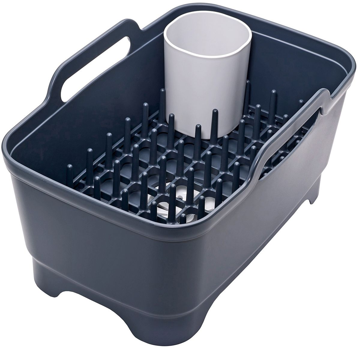 Набор для мойки и сушки посуды Joseph Joseph, цвет: серый85102Набор для мойки и сушки посуды Joseph Joseph включает в себя тазик для мытья, со встроенной пробкой для слива/удержания воды и съемную сушилку для посуды и столовых приборов. Компактный и функциональный дизайн, который поможет по максимуму использовать существующее пространство: подставка для посуды может использоваться как внутри таза, так и на рабочей поверхности.Сам тазик оснащен удобными широкими ручками для переноски, его размеры идеально впишутся в любую раковину.Моется вручную.