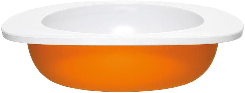Миска для малыша Fabrikators, цвет: оранжевый, 18 х 4,5 х 16 смTDBOWL-OМиска для малыша Fabrikators идеально подойдет для кормления без суеты и мелких неприятностей. Миска не скользит и надежно держится на поверхности стола благодаря дополнительному весу в нижней части. За счёт удобной формы чаши, из неё удобно есть кашу, суп или йогурт. Посуда не содержит бисфенол-А.