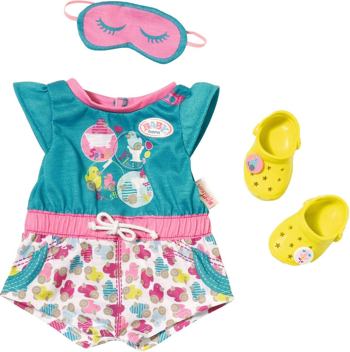 Baby Born Комплект одежды пижамка с обувью для кукол 3 предмета кроксы екатеринбург