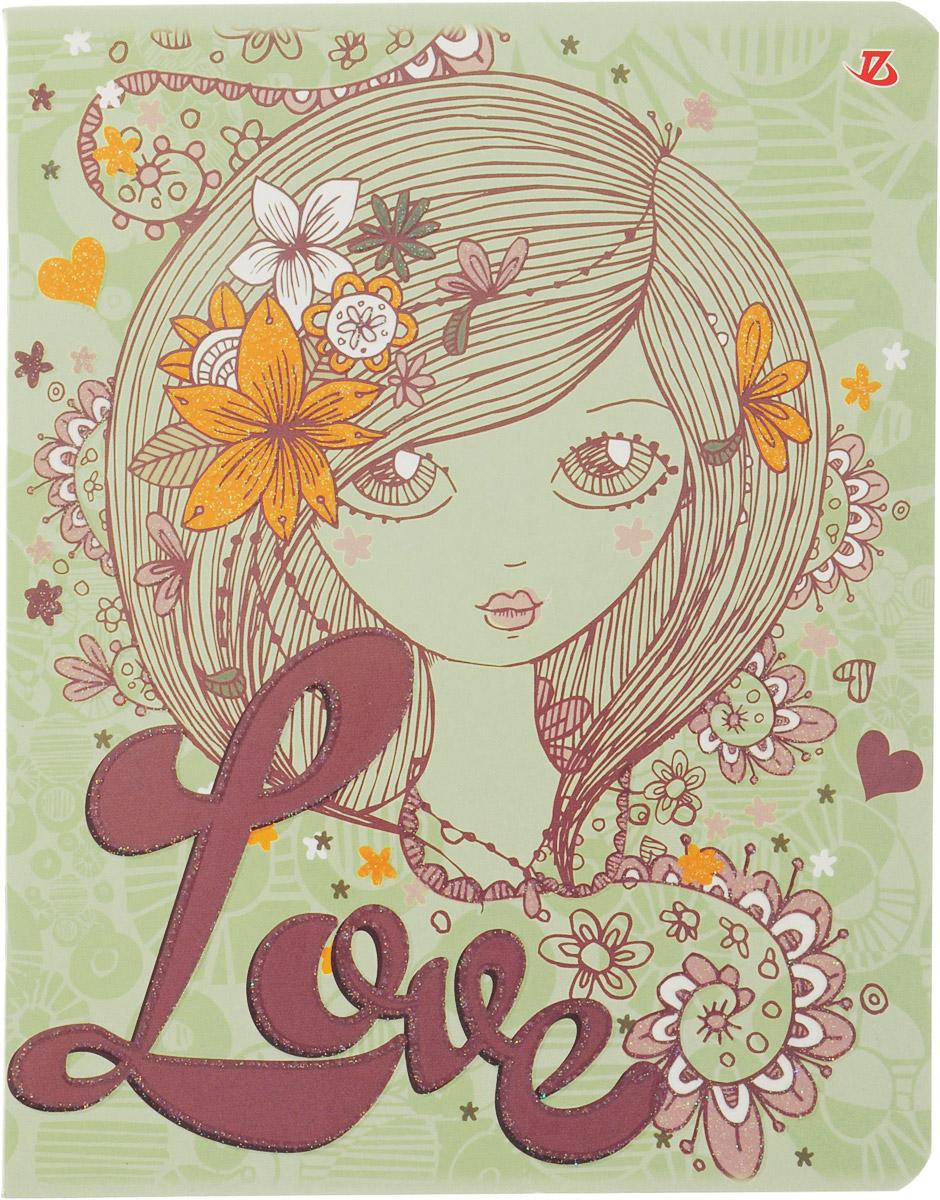 Seventeen Тетрадь Love в клетку 60 листов6651/5Тетрадь Seventeen Love подойдет для любых работ и студенту, и школьнику. Фактурная обложка тетради выполнена из картона с закругленными углами.Внутренний блок тетради, соединенный двумя металлическими скрепками, состоит из 60 листов белой бумаги со стандартной линовкой в голубую клетку с полями.