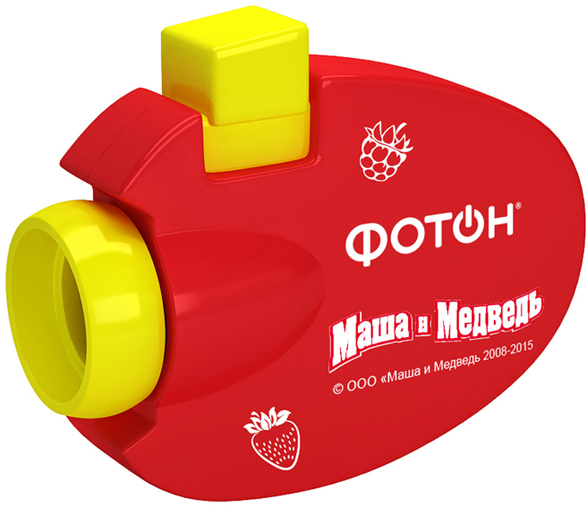 Фотон Мультфонарик-проектор Маша и Медведь цвет красный
