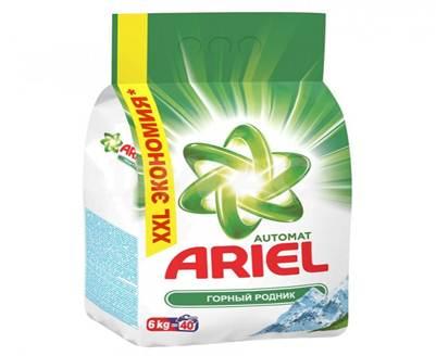 Стиральный порошок Ariel, автомат, горный родник, 6 кг стиральный порошок колор пемос 3 5 кг