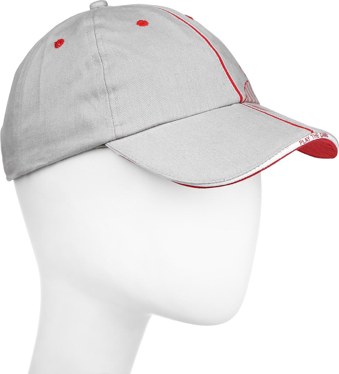 Бейсболка 2K Sport Ferrat, цвет: светло-серый, красный. 124230. Размер 58/60124230_grey/redБейсболка 2K Sport Ferrat выполнена из натурального хлопка и имеет классическую панельную конструкцию. Модель с плотным козырьком оформлена фирменным принтом. Бейсболка имеет небольшие отверстия, обеспечивающие дополнительную вентиляцию. Объем бейсболки регулируется при помощи хлястиков с липучками.