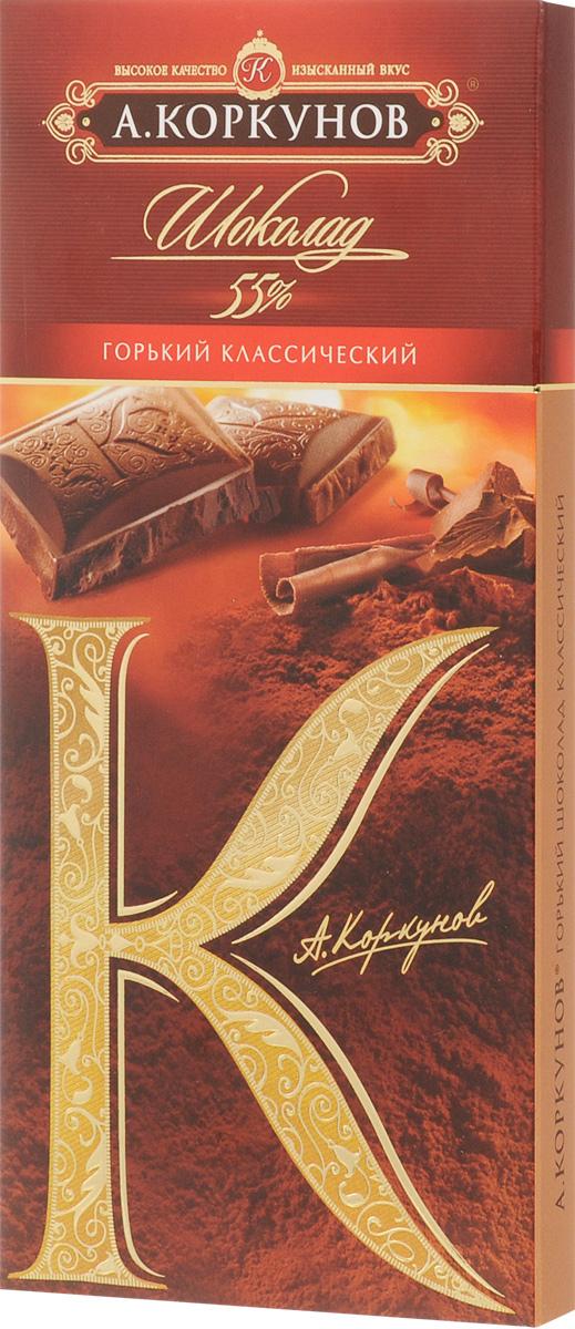 Коркунов горький шоколад 55%, 90 г победа вкуса шоколад горький 90 г