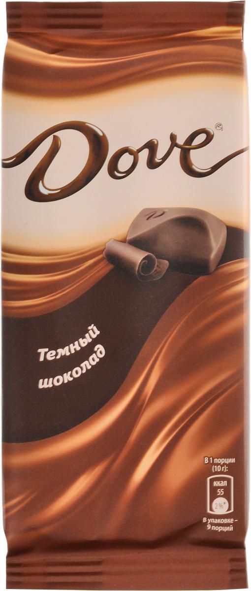 Dove темный шоколад, 90 г волшебница золотой орех шоколад темный с миндалем 190 г