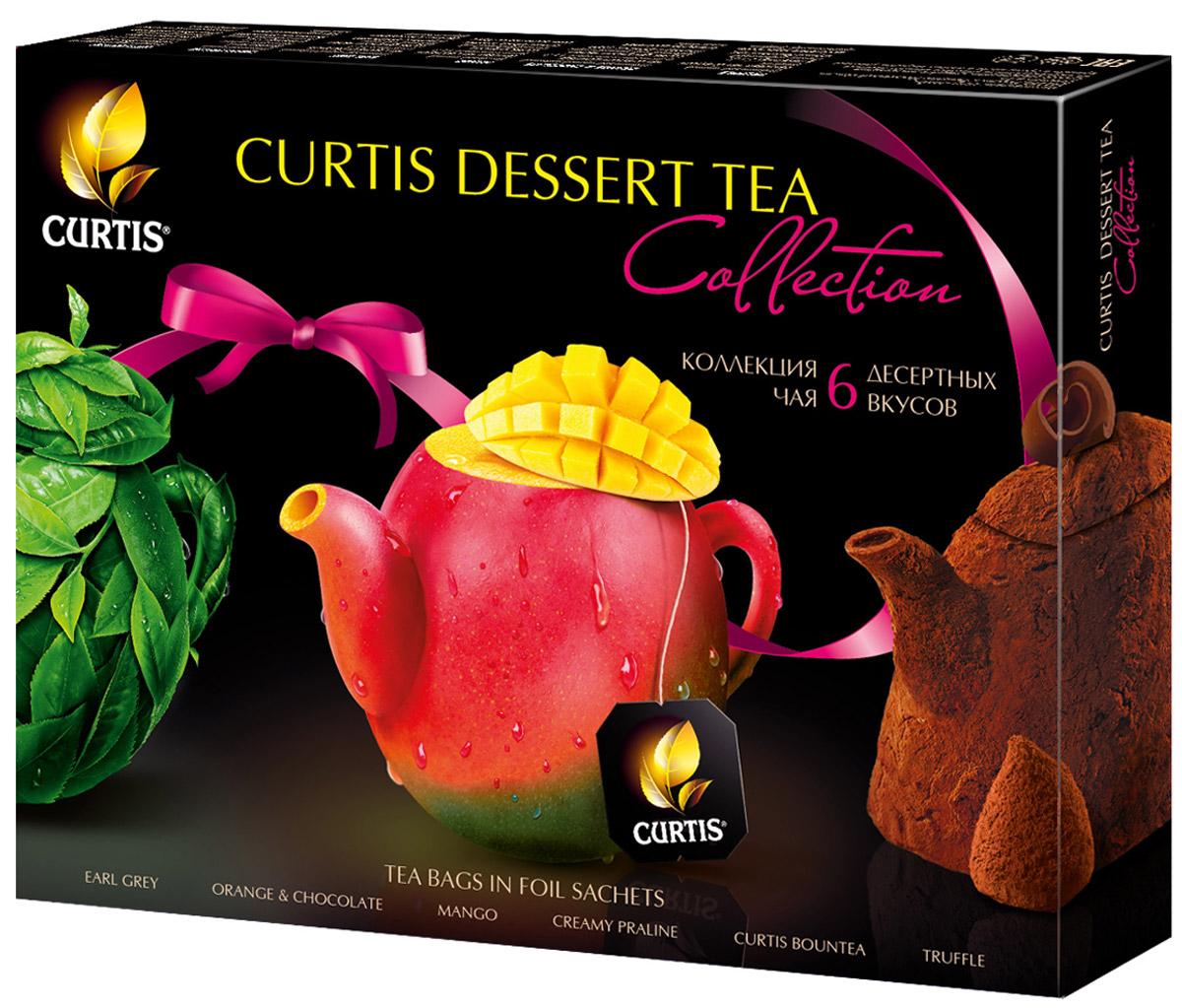 Curtis Dessert Tea Collection чайное ассорти, 30 шт514375Curtis Dessert Tea Collection - коллекция чая с десертными вкусами. Сочетание великолепного чая и вкусов знаменитых десертов рождает новую изысканную форму удовольствия. Утонченные ароматы и соблазнительные вкусы: шоколадный, фруктовый, карамельный и т.д.Уважаемые клиенты! Обращаем ваше внимание на то, что упаковка может иметь несколько видов дизайна. Поставка осуществляется в зависимости от наличия на складе.