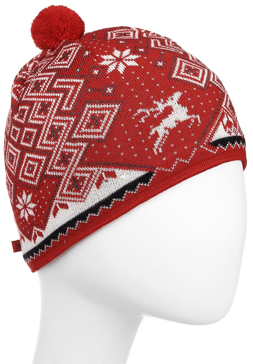 Шапка Kama Cross-Country Beanies, цвет: красный. A58_104. Размер 58/60A58_104Теплая шапка с маленьким помпоном. Для лучшего сохранения тепла с внутренней стороны повязка, выполненная из нитей Thermolite.