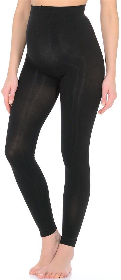 Леггинсы для беременных Mammy Size Microfibra 150, цвет: черный. ПЛ16-150. Размер 2 для беременных диета