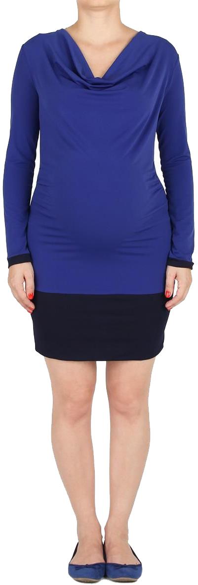 Туника для беременных Mammy Size, цвет: синий. 5133382173. Размер 485133382173Туника прилегающего силуэта, с круглым воротником. Рукава длинные с манжетами. Снизу широкий притачной пояс. Манжеты и пояс из отделочного полотна.