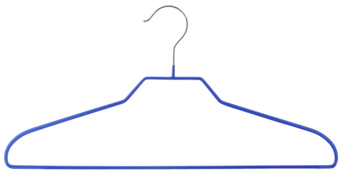 """Вешалка Miolla """"Эконом"""", цвет: синий, длина 41 см"""