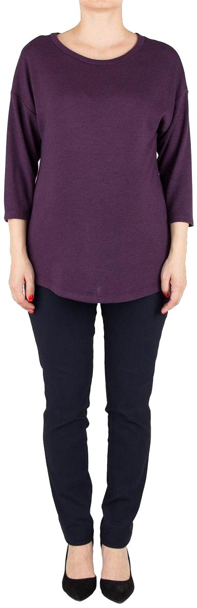 Джемпер для беременных Mammy Size, цвет: фиолетовый. 3504352175. Размер 463504352175Трикотажный джемпер Mammy Size свободного силуэта, со спущенным плечом и рукавом 3/4.
