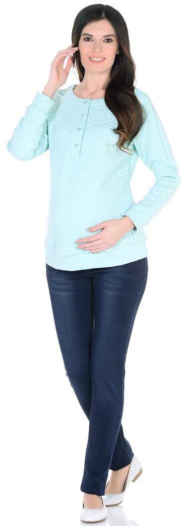 Фото Свитшот для беременных Mammy Size, цвет: светло-зеленый. 3135352173. Размер 44