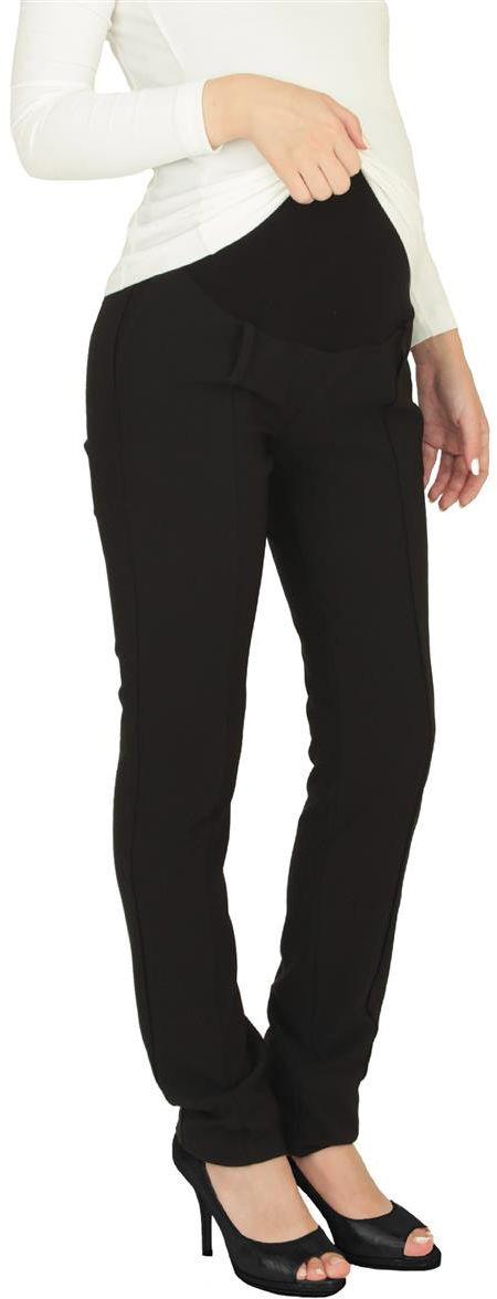 Брюки для беременных Mammy Size, цвет: черный. 1820102179. Размер 421820102179Классические брюки Mammy Size выполнены из полиэстера и спандекса. Модель в обтяжку с удобной резинкой.