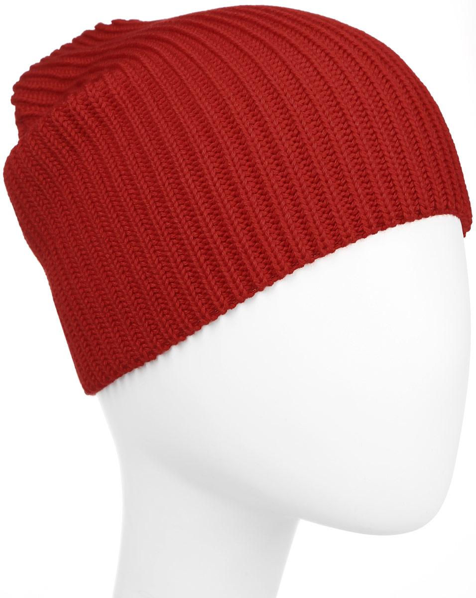 Шапка Kama Kamakadze, цвет: красный. K20_104. Размер универсальныйK20_104Шапка-бини из смесовой шерсти оформлена рельефным плетением и логотипом. Пряжа производится с максимальным акцентом на высокую устойчивость и долговечность.