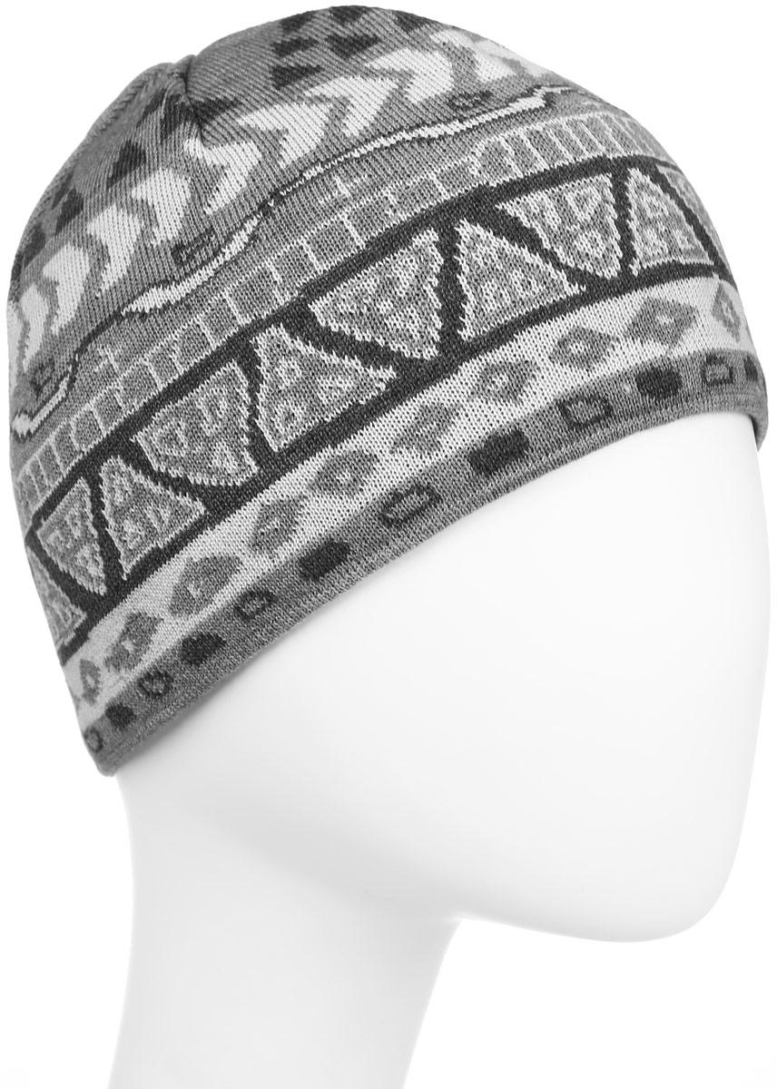 Шапка Kama Kamakadze, цвет: серый. KW03_109. Размер универсальныйKW03_109Классическая теплая полушерстяная шапка с логотипом и узором