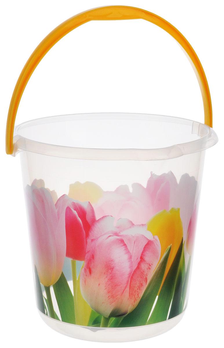 Ведро Idea Деко. Тюльпаны, 5 л ведро хозяйственное idea цвет мраморный 3 л