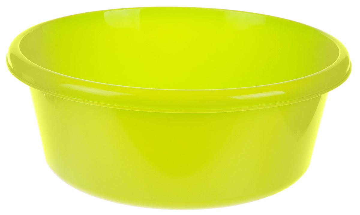 Таз Idea, круглый, цвет: салатовый, 14 лМ 2514Таз Idea выполнен из прочного пластика. Он предназначен для стирки и хранения разных вещей. Также в нем можно мыть фрукты. Такой таз пригодится в любом хозяйстве.Диаметр таза (по верхнему краю): 37 см. Высота стенки: 15 см.