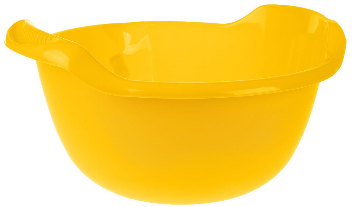 Таз Idea, с ручками, цвет: желтый, 24 лМ 2508Таз Idea выполнен из прочного пластика. Он предназначен для стирки и хранения разных вещей. Также в нем можно мыть фрукты. Для удобства таз снабжен двумя ручками.Такой таз пригодится в любом хозяйстве.Размер таза: 47 х 51 х 23 см.