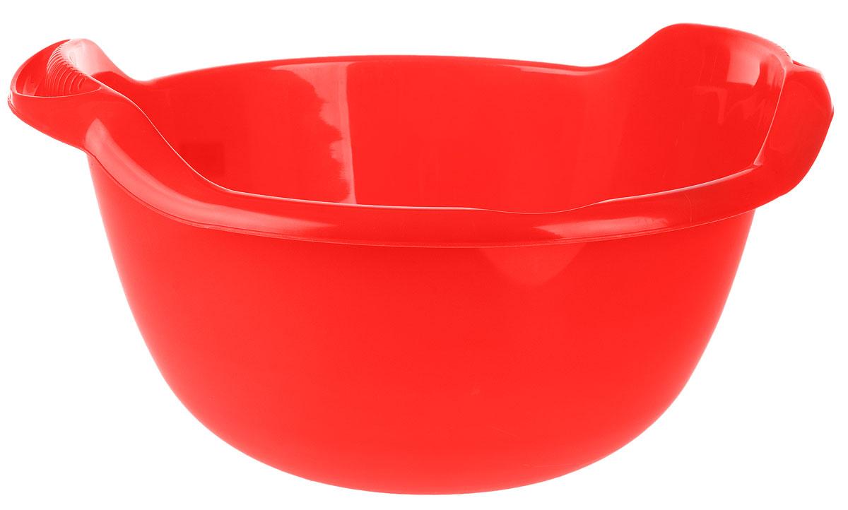 Таз Idea, с ручками, цвет: красный, 24 лМ 2508Таз Idea выполнен из прочного пластика. Он предназначен для стирки и хранения разных вещей. Также в нем можно мыть фрукты. Для удобства таз снабжен двумя ручками.Такой таз пригодится в любом хозяйстве.Размер таза: 47 х 51 х 23 см.