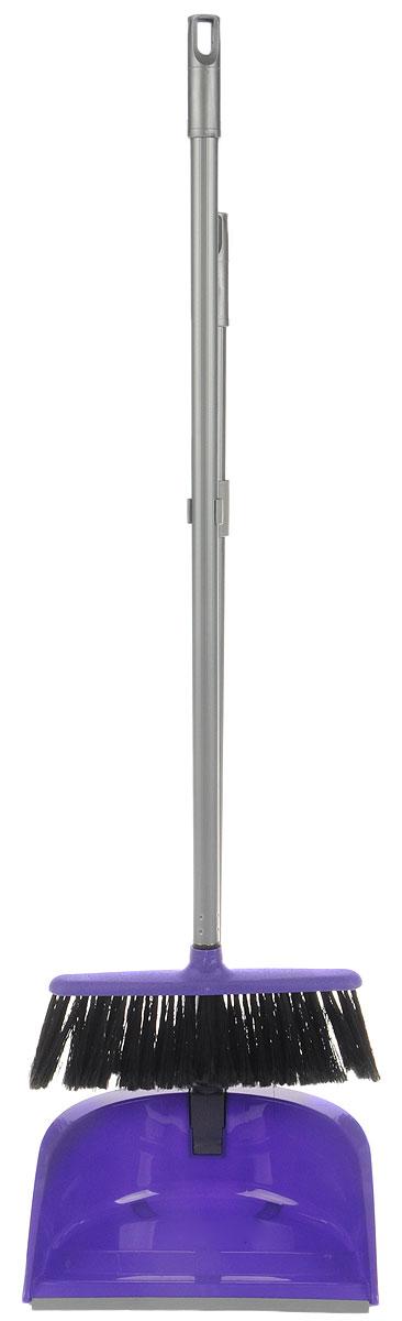 Набор для уборки Idea Ленивка. Люкс, цвет: фиолетовый, серый, 2 предметаМ 5179Набор для уборки Idea Ленивка. Люкс состоит из совка и щетки, изготовленных из высококачественного пластика. Вместительный совок удерживает собранный мусор и позволяет эффективно и быстро совершать уборку в любом помещении. Сглаженный край совка обеспечивает наиболее плотное прилегание к полу. Щетка имеет удобную форму, позволяющую вымести мусор даже из труднодоступных мест. Совок и щетка оснащены длинными ручками с отверстиями для подвешивания. С набором Idea Ленивка. Люкс уборка станет легче и приятнее.Общая длина щетки: 81 см.Ширина рабочей части щетки: 25 см.Длина совка: 80 см.Размер рабочей части совка: 25,5 х 25 х 10 см.