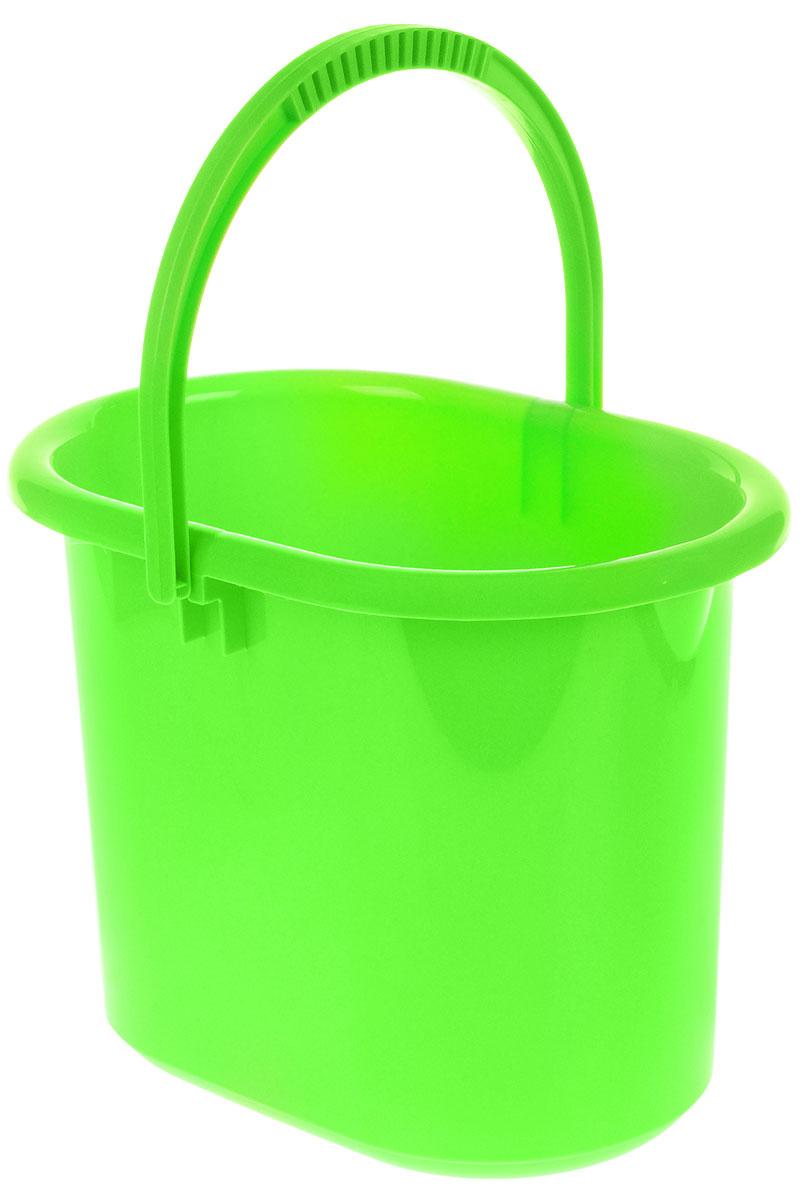Ведро хозяйственное Idea, овальное, цвет: салатовый, 11 лМ 2422Ведро Idea изготовлено из высококачественного прочного полипропилена. Оно легче железного и не подвержено коррозии. Изделие универсально, его можно использовать в качестве ведра для мыться полов, а также в качестве мусорного ведра. Ведро оснащено удобной пластиковой ручкой для переноски. Внутри имеется мерная шкала. Такое ведро станет незаменимымпомощником в хозяйстве.Размер (по верхнему краю): 33 х 23,5 см.Высота: 26,5 см.