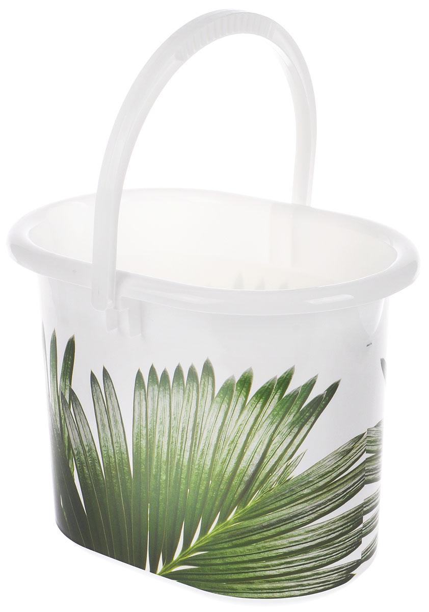 Ведро хозяйственное Idea Деко. Пальма, овальное, 11 л ведро idea деко орхидея 5 л
