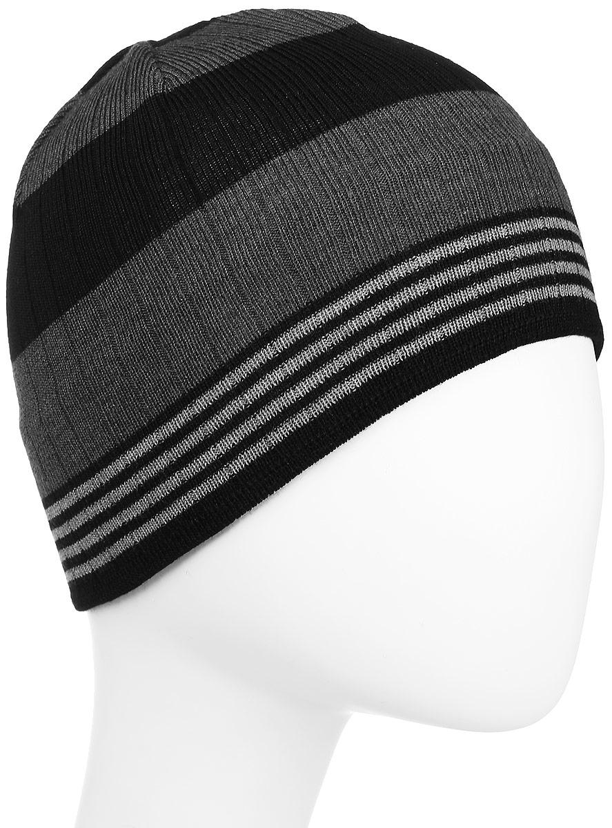 Шапка Kama Kamakadze, цвет: черный, серый. K51_110. Размер универсальныйK51_110Классическая теплая шапка из смесовой шерсти с логотипом.